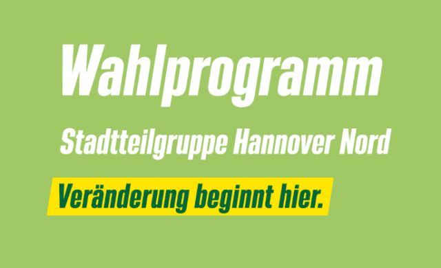 Wahlprogramm Hannover Nord 2021